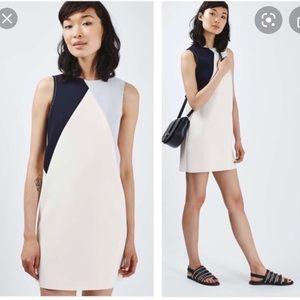 Topshop Colorblock Shift Dress